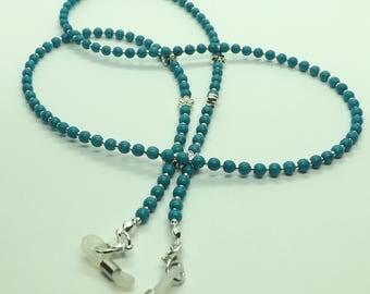 """Stunning """"Turquoise Blue"""" Glasses Chain Eyeglass Chain Glasses Holder"""
