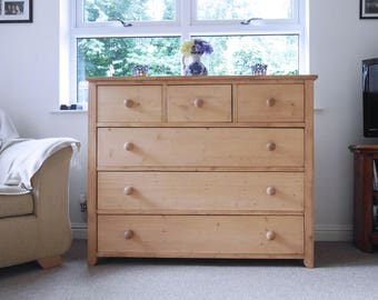 Victorian-style Solid Pine Chest of Drawers