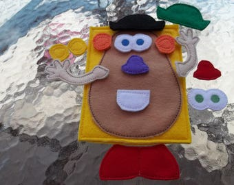 Potato Head  Quiet  Busy Book  page:  making faces, pretend play, educational, christmas gift