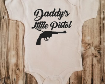 Daddy's Little Piston Bodysuit - Baby Shower Gift - Baby Girl Bodysuit - Baby Girl Clothing - Daddy's Girl Outfit - Hunter's Baby Clothing