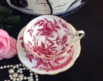 Pretty Foley bone china cup and saucer.