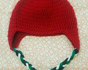 Crochet Apple Hat Back to School