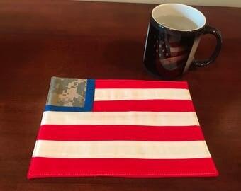 USA Flag Mug Rug