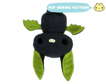 Bat Sewing Pattern, Stuffed Bat PDF, Halloween Pattern, Bat Pattern, Bat Toy Pattern, Stuffed Bat, Sewing Pattern Kids, DIY Bat Plush Toy