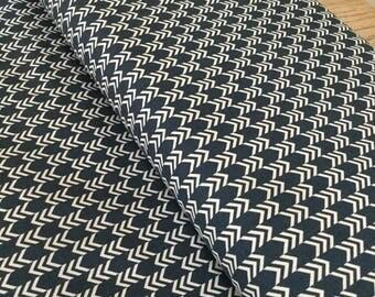 Navy herringbone fabric, fabric by the yard, navy and white, nautical fabric, herringbone fabric, riley blake fabric