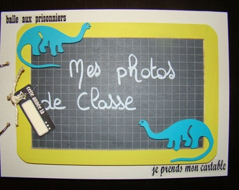 Class photo album personalized 'dinosaur'