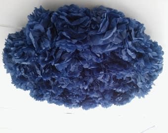 Large pom pom ceiling/wall hanging for all occasions and home decor
