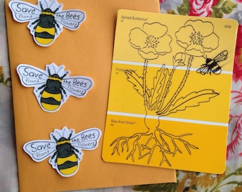 Save the bees stickers