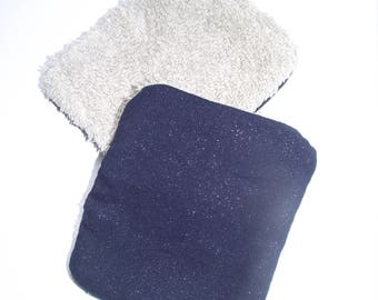 Set of 2 wipes - brilliant blue
