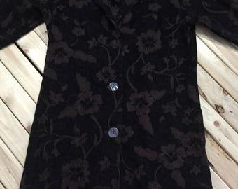 Embossed Fabric Coat