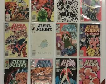 Lot of 24 Alpha Flight Comic Books; 9 Bronze & 15 Copper Age, 1983-1987