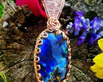 The coral reef - labradorite amulet