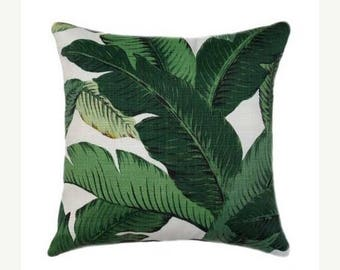 SALE Banana Leaf Green OUTDOOR Pillow Cover, Swaying Palms Aloe Pillow Cover, Green Leaves Outdoor Pillow Cover, Tommy Bahama Palm Leaf Cove