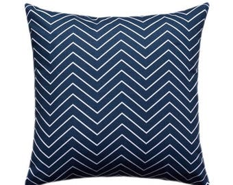 SALE Navy Chevron Throw Pillow Cover, Navy and White Pillow Cover, Chevron Pillow, Chevron Premier Navy Pillow Case, Chevron Pillow, Navy Ch