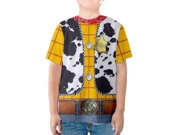 READY-to-SHIP 3T Kid's Woody Toy Story Inspired Shirt