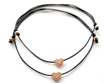Friendship Bracelets Hearts Rosegold in your wish color!