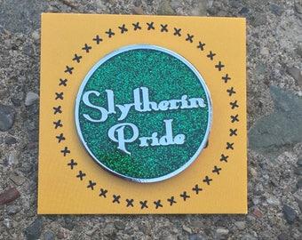 Green Slytherin Pride Pin, Hogwarts Pin, Harry Potter Pin