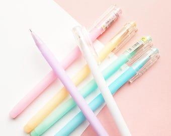 Pastel Rainbow Gel Pens - Black Ink 0.38mm