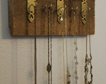 Necklace Organizer | Reclaimed Barn Wood Necklace Holder | Wall Hanging Jewelry Organizer | Wood Jewelry Organizer | Wood Jewelry Display