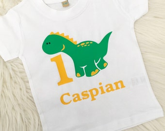 Personalised Birthday T-Shirt, 1st, 2nd, 3rd, 4th, 5th, Dinosaur Birthday T-Shirt, Boys Top, Birthday Gift, Party Outfit, UK Seller