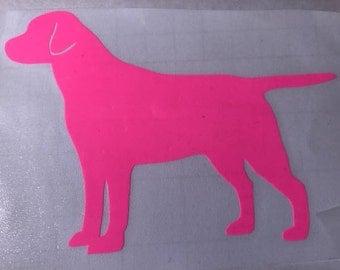 "4"" Vinyl Pink Black Dog"