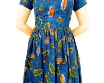African wax print dresses, Ankara fit and flare dress, African dress styles, African dress, African flare dress, African fit and flare dress