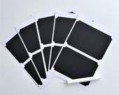 "Set of 10 Chalkboard Stickers: 3.75"" x 2.5"" 