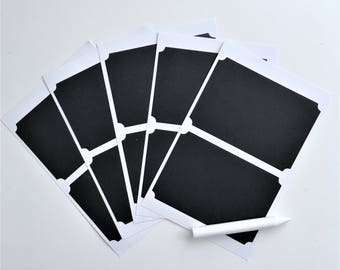 """Set of 10 Chalkboard Stickers: 3.75"""" x 2.5""""   Sharpened Chalk Included   Limited Quantities Available   Free Shipping to Canada and US!"""
