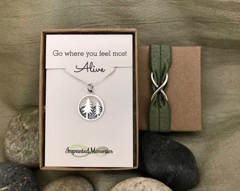 Silver Mountain Range Necklace Mountain Jewelry - Gifts for Nature Junkie - Hiking Jewelry - Mountain Jewelry - Go where you feel most Alive