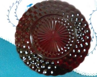 1940-65 Bubble Royal Ruby Anchor Hocking Glass Dinner Plate