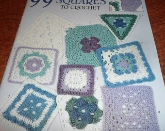 Leisure Arts 99 Granny Squares To Crochet Book