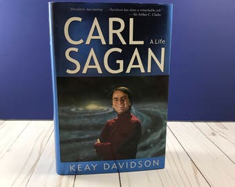 Carl Sagan: A Life by Keay Davidson - Hardcover - Astronomy Book - Science & Scientists - Cosmos - Biography - Dust Jacket - Universe Book