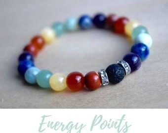 Harmony Jewellery / 7 chakras meditation, calming bracelets, energy bracelet, good vibes only, protective bracelet, protection bracelet