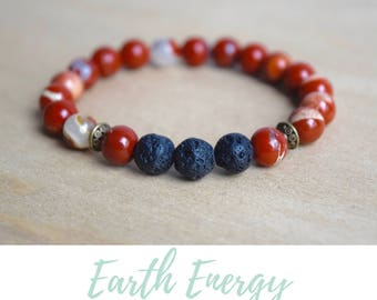 Energy Bracelets / grounding jewelry, yoga gift for mom, best selling items, red jasper bracelet, jasper yoga bracelet, grounding gemstone