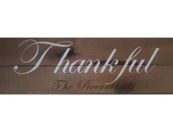 Thankful Personalized Rustic Pallet Sign for Thanksgiving