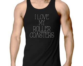 I Love My Roller Coasters Tank Top