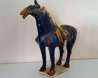 Tang Horse with Sancai Glaze - Oxford Tested