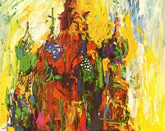 """Original Vintage Leroy NEIMAN Print Book Plate """"Red Square Moscow"""""""