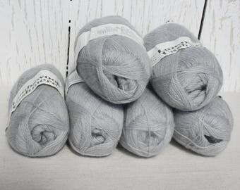 Cashmere yarn Knitting yarn Grey yarn Knit grey yarn Sweater yarn Craft yarn DK Handicraft Knitted Soft Craft supplies Acrylic yarn Warm