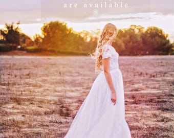 At Home Try-On Service / Bohemian Wedding Dress / Boho Lace Vintage Gown
