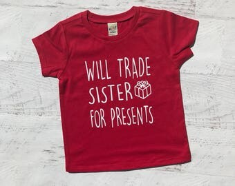 Christmas Shirt, Christmas Tshirt, Holidays Tshirt, Santa tee, Holiday Shirt, Toddler Christmas tee, Boy Christmas, Girl, Trade sister.