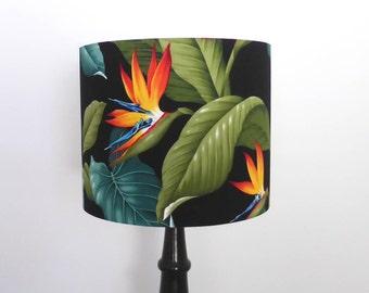 Bird Of Paradise Lampshade | Tropical Lamp Shade | Handmade in Australia