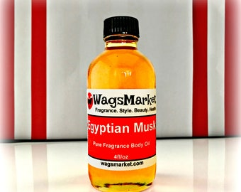 Egyptian Musk Oil, 4oz Bottle, 100% Pure and Thick Musk Perfume Oil FREE SHIPPING in US.