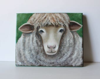 Sheep Original Painting 8x10