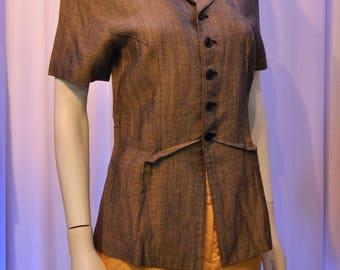 AD1995 Comme des Garçons Tricot Linen button down top
