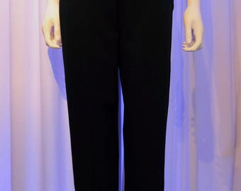 Issey Miyake Tapered High Waist Wool Blend Trousers