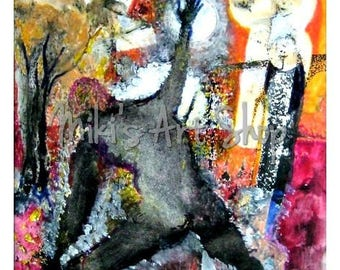 "Digital file JPG of original painting ""Loner"". Umberto Costanzo Kremser. CUK"