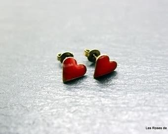 Earrings mini heart earrings