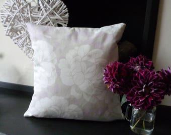 """LAURA ASHLEY Floral Erin Amethyst Cushion Cover. Cream, Pink. 16"""" x 16""""."""