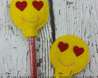Love Emoji Pencil Toppers - Party Favor - Classroom Prizes - Small Gift - Back to School